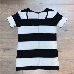 Babaton Black & White Stripe Tee XS